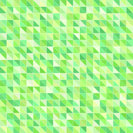 Triangle pattern. Seamless vector background with green right triangles on white backdrop