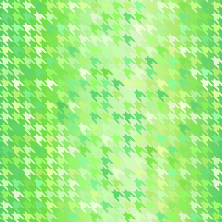 Houndstooth pattern. Seamless vector background with green oranement on gradient backdrop