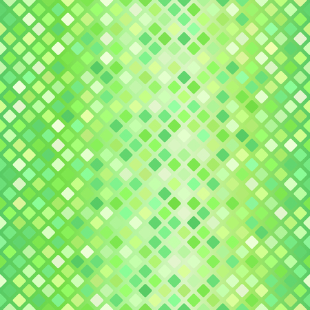 Diamond pattern. Seamless vector background: green rounded diamonds on gradient backdrop