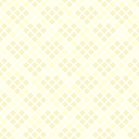 Yellow diamond pattern with hearts. Seamless vector background: yellow hearts made of diamonds on light yellow backdrop