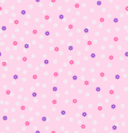Flower pattern. Vector seamless background with fluff and flowers Illustration