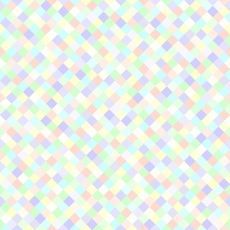 Diamond pattern. Seamless vector background with violet, rose, cyan, yellow, green square diamonds Illustration