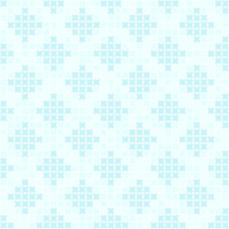 Motivo a rombi ciano. Fondo senza cuciture di vettore: ciano diamanti fatti delle forme astratte sul contesto blu-chiaro