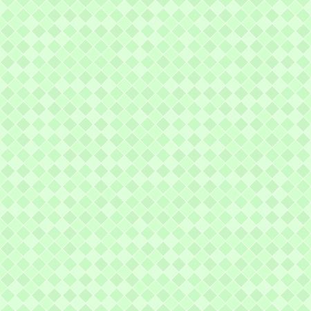 Green diamond pattern. Seamless vector background: dark and light mint square diamonds on light green backdrop