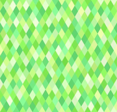 Diamond pattern. Vector seamless geometric background with green diamonds