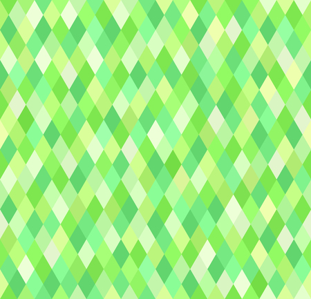 Diamond pattern. Vector seamless geometric background with green diamonds