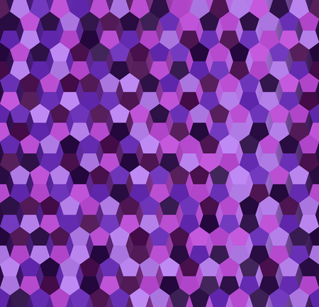 Pentagon pattern. Seamless vector background: amethyst, lavender, plum, purple, violet pentagons on gradient backdrop
