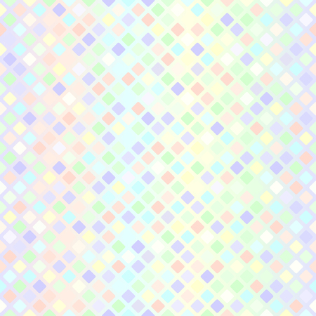 Diamond pattern. Seamless vector background with violet, rose, cyan, yellow, green rounded rhombs on gradient backdrop Illustration