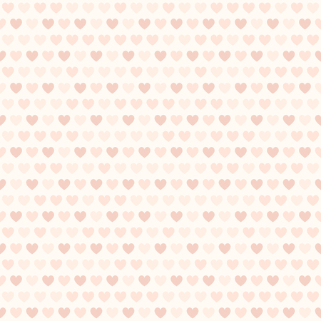 affair: Rose heart pattern. Seamless vector with colored hearts on light backdrop Illustration