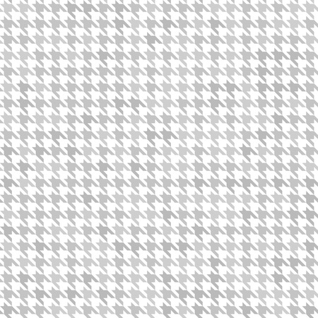 Houndstooth pattern. Seamless vector background with gray ornament on white backdrop