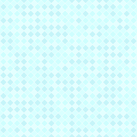Cyan checkered diamond pattern. Seamless vector background: cyan diamonds on light blue backdrop Illustration