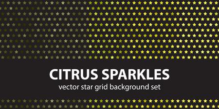Star pattern set Citrus Sparkles