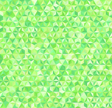 Triangle pattern. Seamless vector background with green triangles Illustration