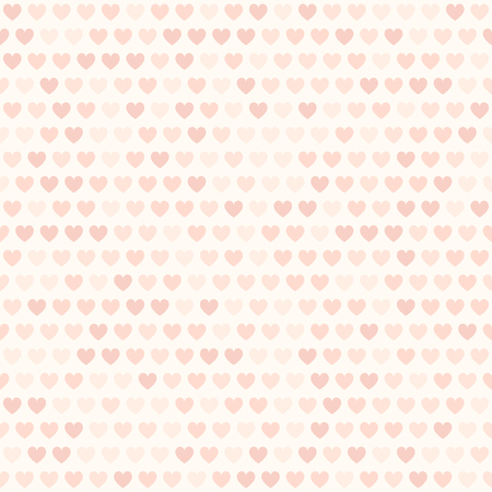 Heart pattern. Vector seamless background with rose hearts on light pink backdrop Illustration
