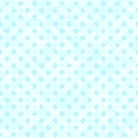 Cyan diamond pattern. Seamless vector background: cyan square diamonds on light blue backdrop Illustration