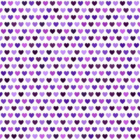 Heart pattern. Seamless vector background: amethyst, lavender, plum, purple, violet hearts on white backdrop