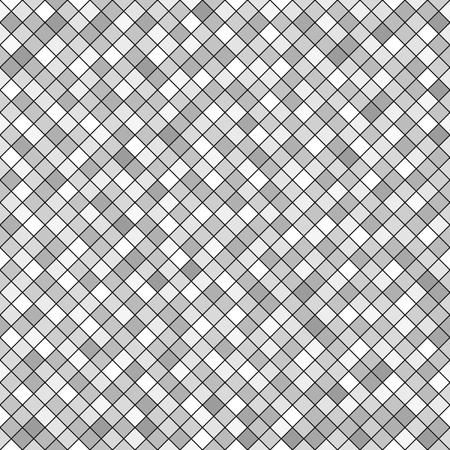 arsenic: Diamond pattern. Seamless vector background with gray diamonds on black backdrop Illustration