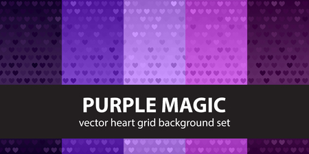 Heart pattern set Purple Magic Illustration