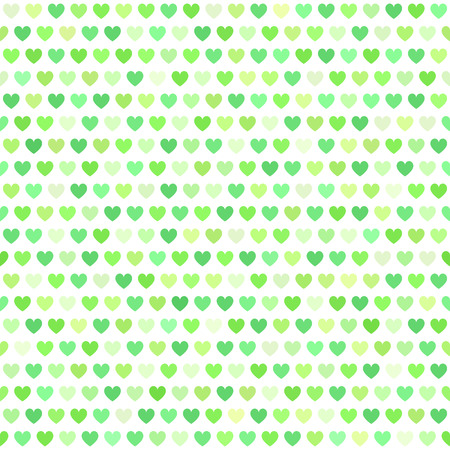 affairs: Heart pattern. Seamless vector background with green hearts on white backdrop