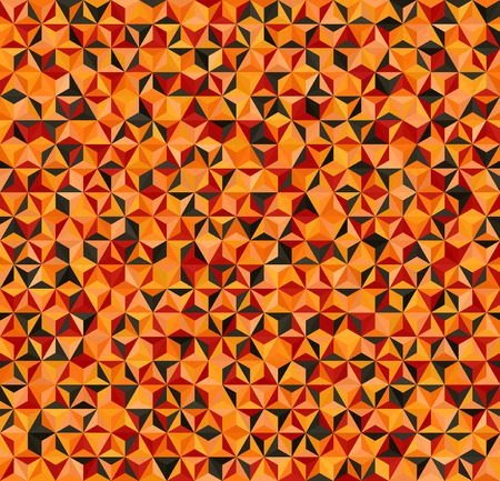 Triangle pattern. Seamless vector background with red, peach, black, orange, pumpkin triangles