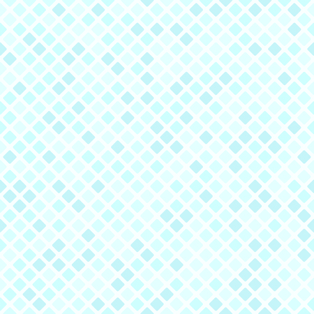 Diamond pattern. Vector seamless background with cyan rounded diamonds on light blue backdrop Illustration