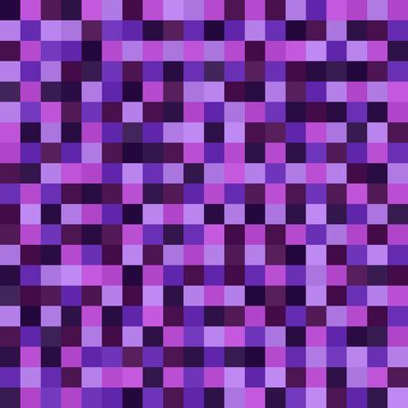Pixel art pattern. Seamless vector pixel background with amethyst, lavender, plum, purple, violet squares