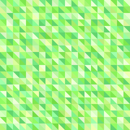 Triangle pattern. Seamless vector background with green right triangles