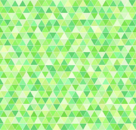 Triangle pattern. Vector seamless geometric background: green triangles on white backdrop