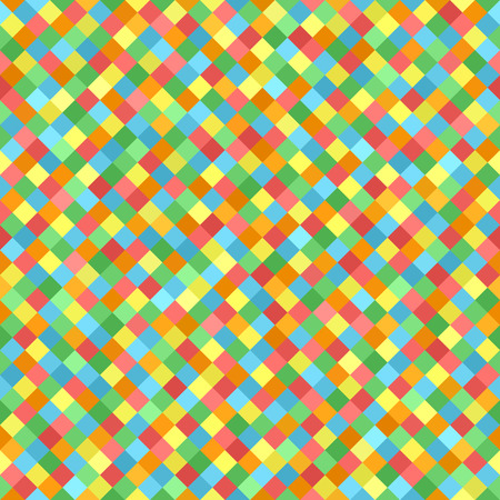 Diamond pattern. Seamless vector background with red, orange, yellow, green, blue square diamonds