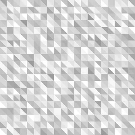 Triangle pattern. Seamless vector gray and white background with right triangles