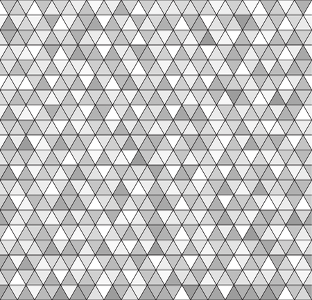 arsenic: Triangle background. Vector seamless pattern: gray and white triangles on black backdrop Illustration
