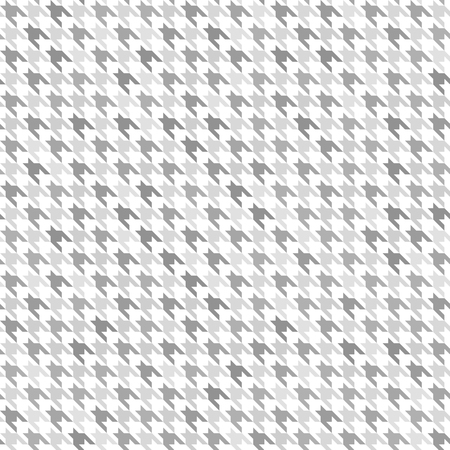 Houndstooth pattern. Gray and white seamless vector background: grey ornament on white backdrop