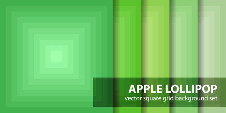 Square pattern set Lollipop, vector geometric backdrop.