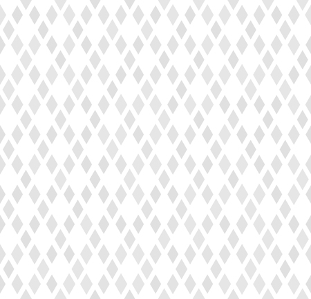 Diamond pattern. Vector seamless geometric background with gray diamonds on white backdrop