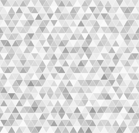 arsenic: Triangle pattern. Vector seamless background: gray and white triangles on white backdrop