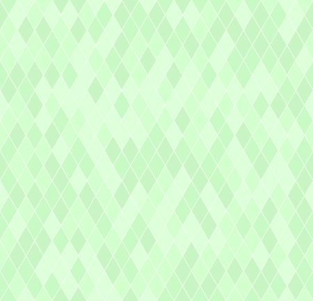 Green diamond pattern. Seamless vector background: mint diamonds on light green backdrop Illustration