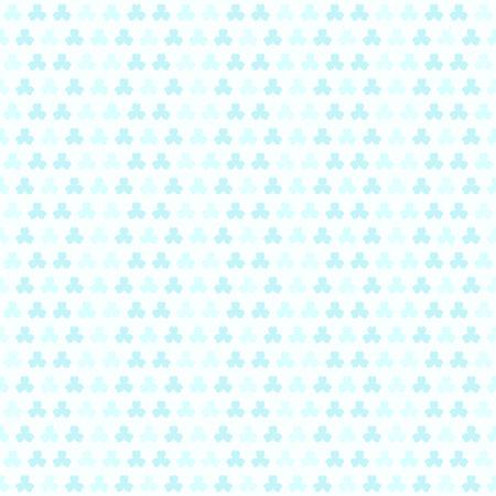 patrick: Cyan shamrock pattern. Seamless vector background: cyan clover leaves on light blue backdrop