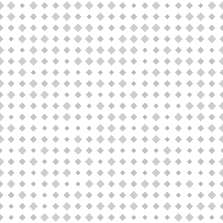 Diamond pattern. Vector seamless background with gray square diamonds of different size on white backdrop Illustration