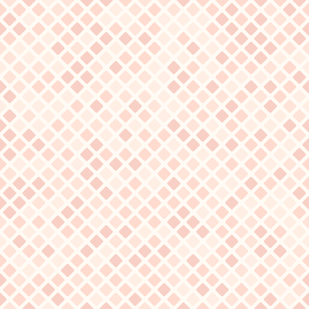 Rose diamond pattern. Seamless vector background with rose rounded diamonds on pink backdrop Illustration