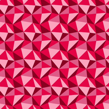 Low poly triangle pattern. Abstract vector seamless geometric pink and rose background
