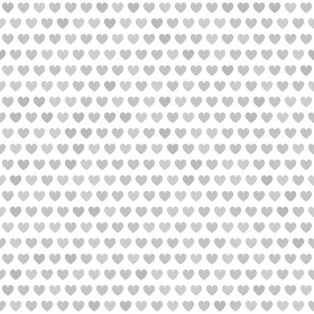 arsenic: Heart pattern. Seamless vector background: gray hearts on white backdrop Illustration