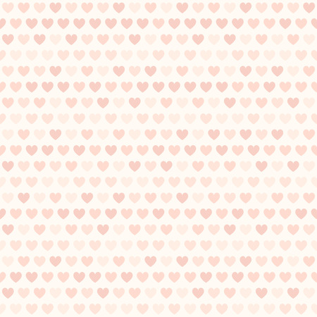 Rose heart pattern. Seamless vector love background: red hearts on light pink backdrop Illustration