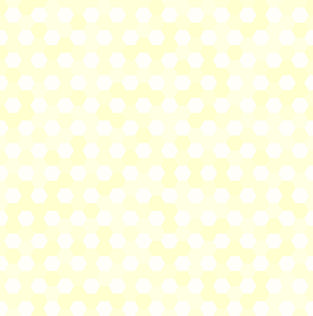 grid background: Hexagon pattern. Vector seamless background with yellow and white hexagons