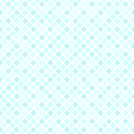 Cyan diamond pattern. Seamless vector background with blue rounded diamonds on light backdrop