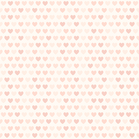 Rose heart pattern. Seamless vector love background with rose hearts on light pink backdrop Illustration
