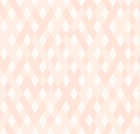 Diamond pattern. Seamless vector background with rose and light pink diamonds