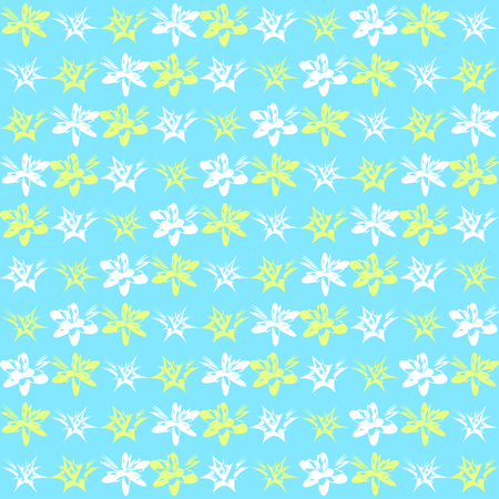Bright exotic flower pattern. Seamless vector background