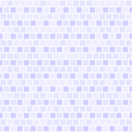 Square pattern. Vector seamless background: violet, lilac, lovender rounded squares on white backdrop Illustration