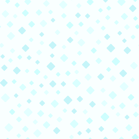 Cyan rounded diamond pattern. Seamless vector background: blue rounded diamonds on light cyan backdrop Illustration