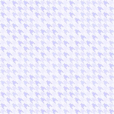 Houndstooth violet pattern. Seamless vector background: violet checkered shapes on light lavender backdrop